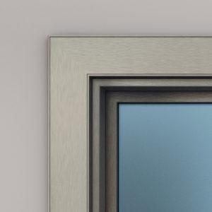 anodizzato effetto graffiato per serramenti in alluminio