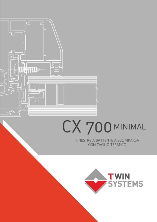 twin systems catalogo serramenti cx-700 per finestre a battente a scomparsa a taglio termico
