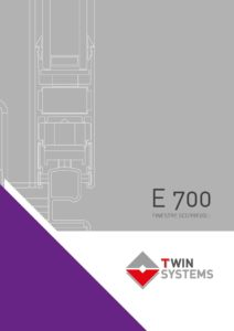 twin systems catalogo serramenti E700 per finestre scorrevoli