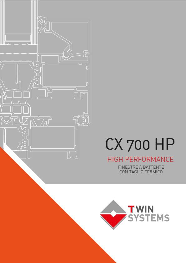 Twin Systems Catalogo serramenti CX 700 HP