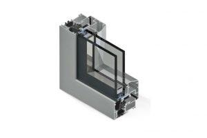 Profilo in alluminio con taglio termico Twin Systems.