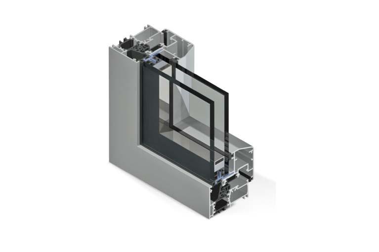 Profilo in alluminio con taglio termico Twin Systems