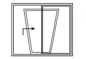 finestra con apertura alza e scorri