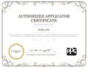 certificazione verniciatura aama