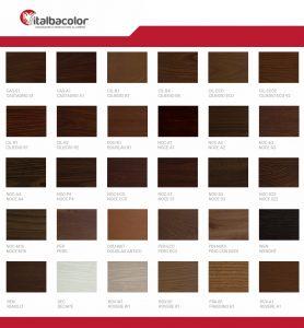 tabella colori ral alluminio effetto legno