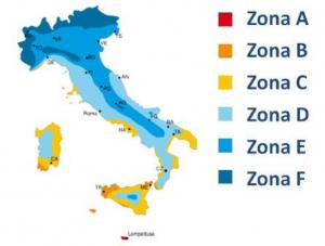 Cartina climatica Italia