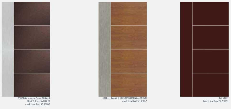 portoni in alluminio finto legno